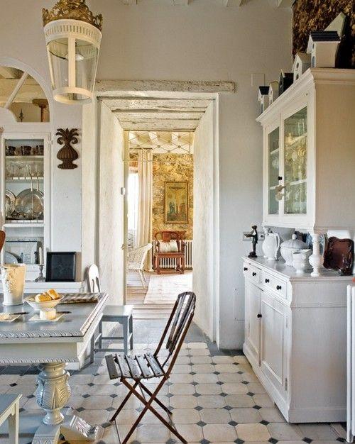 .Decor, Dreams Kitchens, Kitchens Floors, Interiors, Kitchens Ideas, Country Kitchens, Kitchens Cabinets, Design, White Kitchens
