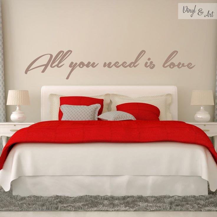 vinilo adhesivo decorativo frases all you need is love no hay nada que puedas hacer