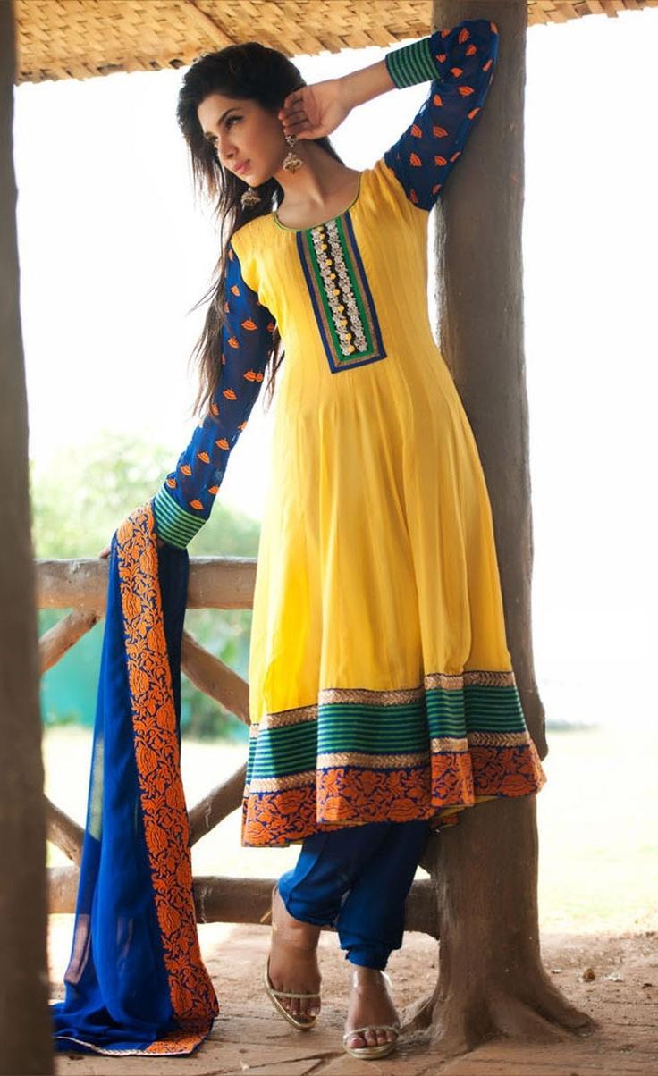 Melodic Gold Color Salwar Kameez  ❀ http://www.gravity-fashion.com/9129-melodic-gold-color-salwar-kameez.html ❀  Item Code: VI30350    Color: Gold Color  Fabric: Faux Georgette  Work: Lace, Resham    US$142.34
