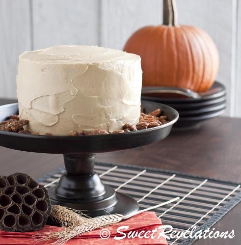 Brown Butter Pumpkin Layer Cake | a taste of autumn | Pinterest