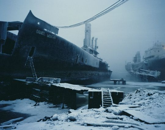 Simon Roberts. Abandoned Warship in the Kola Bay. Murmansk, Russia, 2005. From the series Motherland.