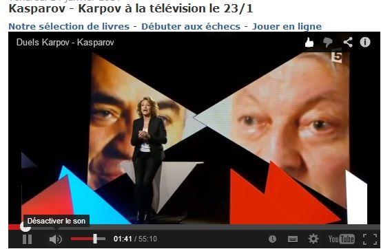 Revoir l 39 mission duel sur france 5 avec kasparov karpov la t l vision - Emission sur la 5 ...