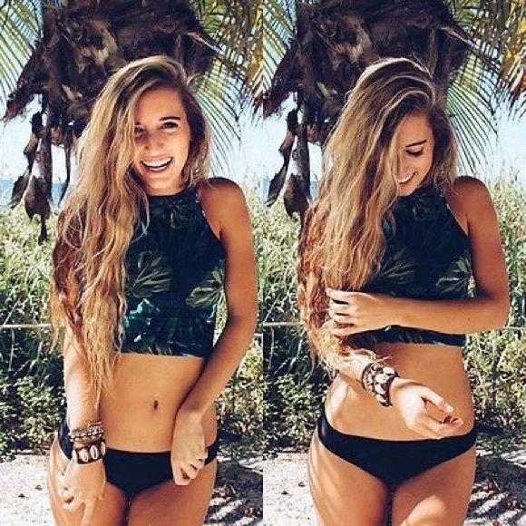 Bikini Top Palm Leaf bikini top Swim Bikinis
