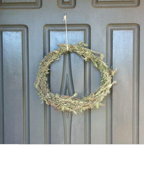DIY lavender wreath- Burrowbee