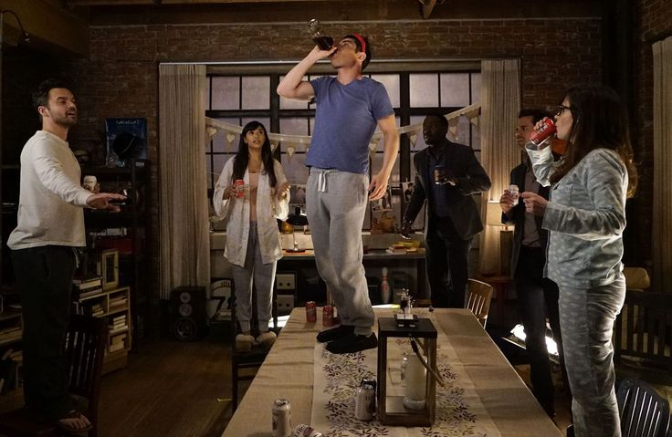 New Girl's True American drinking game. My life just became complete!