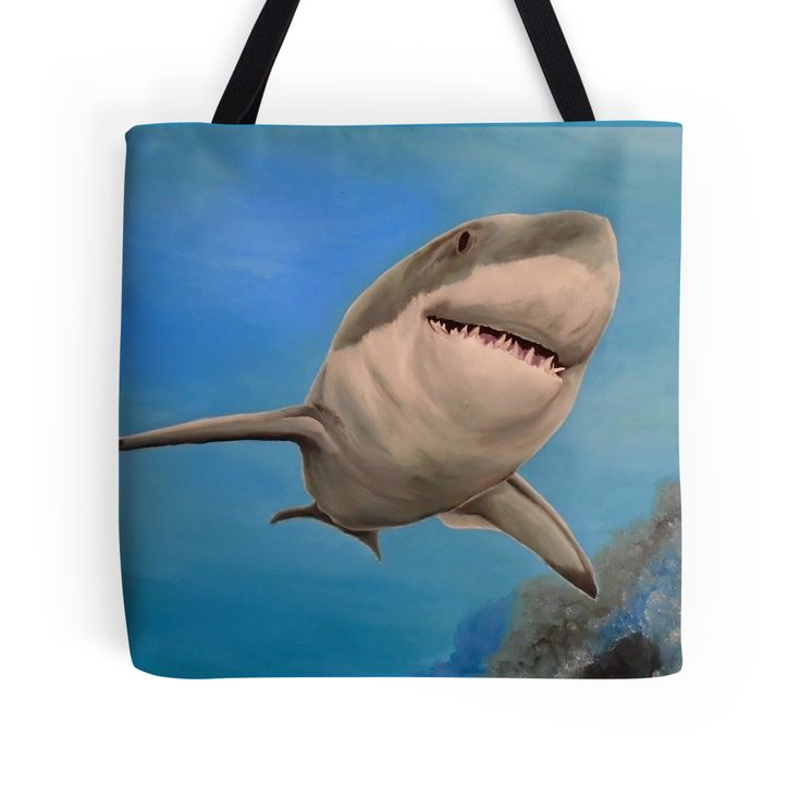 Tote Bag,   aqua,blue,turquoise,cool,beautiful,fancy,unique,trendy,artistic,awesome,fahionable,unusual,accessories,for sale,design,items,products,gifts,presents,ideas,shark,wildlife,redbubble