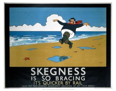 Vintage Skegness Railway Poster