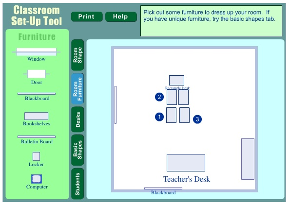 Classroom Design Tools ~ Classroom set up tool by scholastic plan out your