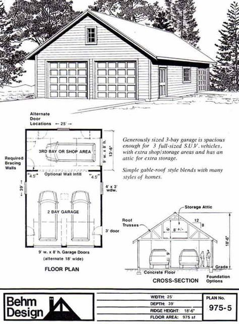 25 best ideas about roof truss design on pinterest roof for 2 bay garage plans