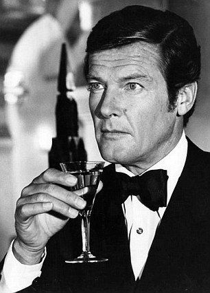 Roger Moore averaged 11 units of alcohol every film...