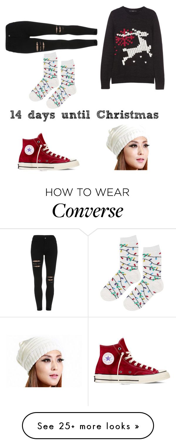 """Untitled #159"" by englandlove5586 on Polyvore featuring Converse and Topshop"