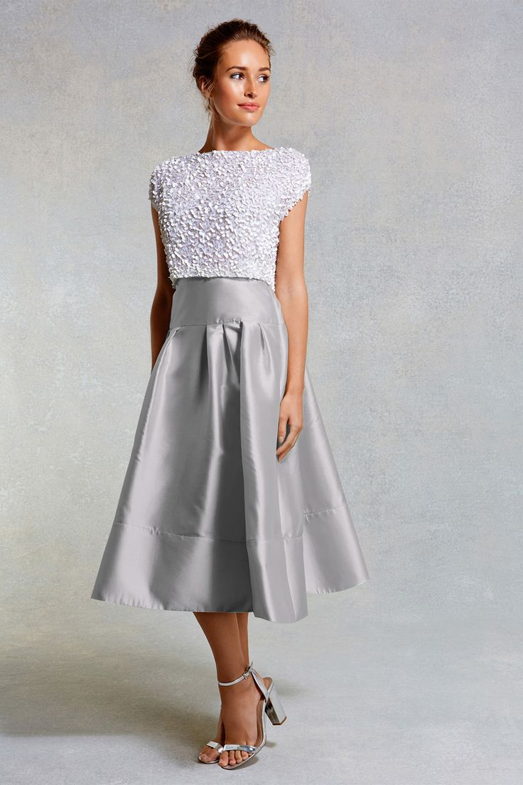Bridesmaid separates | Coast silver skirt | Gray Wedding ...
