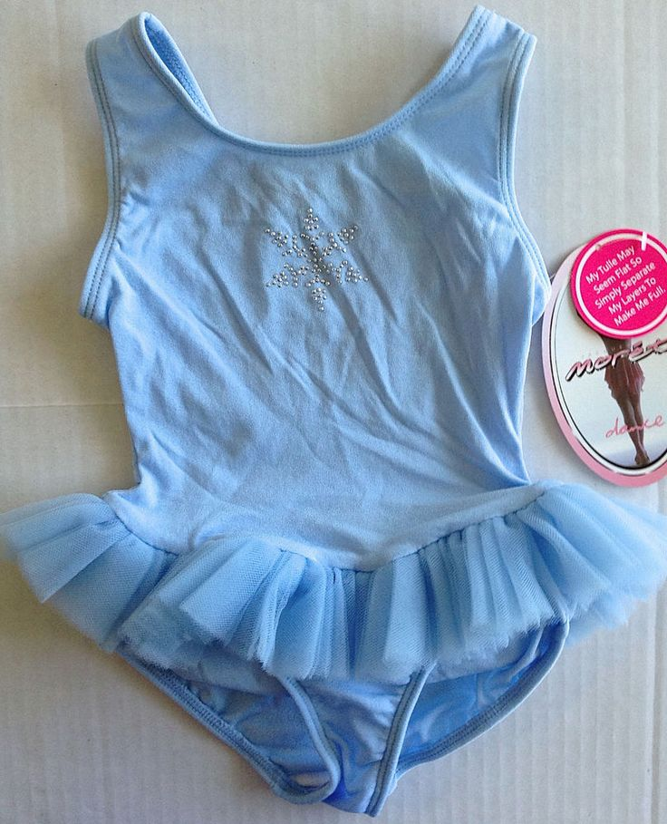 MORET Snowflake Leotard Dance Dress Sparkle Tutu Girls Size XXS 2/3 NWT #JacquesMoret