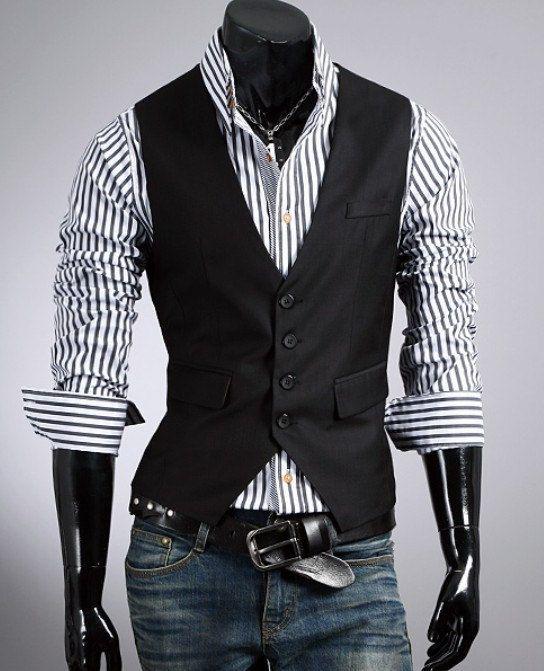 New Years 2014 - Fashion Classic Stylelish Gentleman Mens Vest Custom made 1011... I would definitely wear that vest.