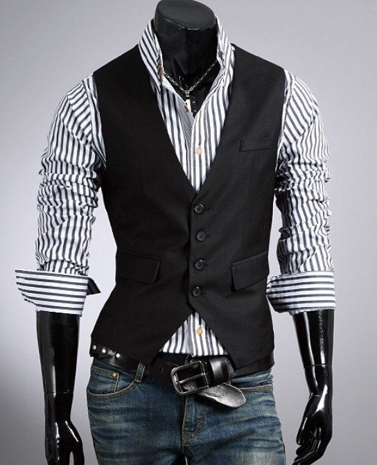 Fashion Classic Stylelish Gentleman Mens Vest Custom made 1011