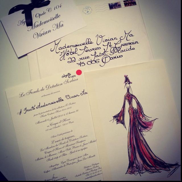 Our fashion show invitations in Paris. Le Sigh we miss Paris !!