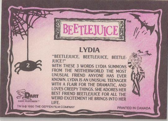 1990 Dart Beetlejuice Cartoon Series