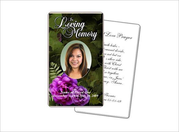 21 obituary card templates free printable word excel pdf psd Template.net #SampleResume #DeathAnnouncementCardsFree
