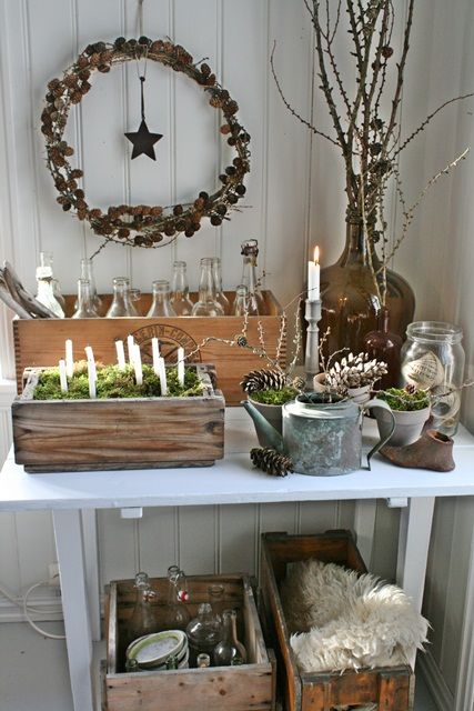 ~ Natural Christmas decorations ~ Beautiful inspiration.
