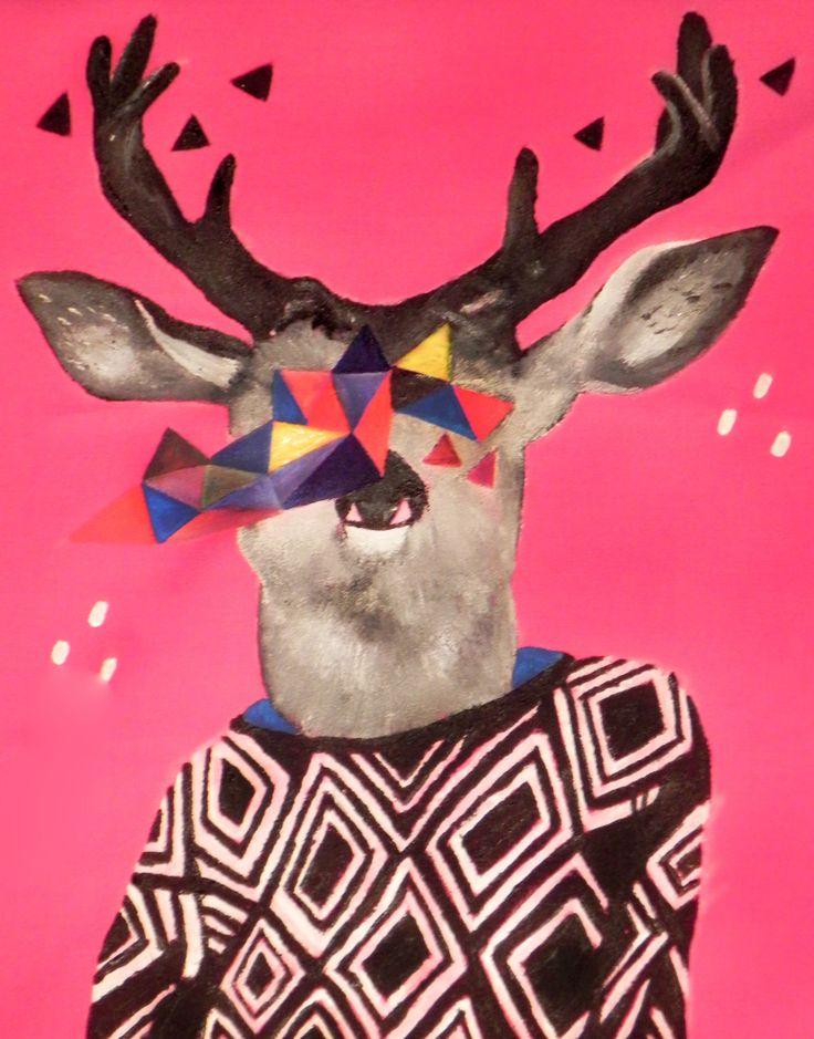 pintura para bolsa de tela reno hipster