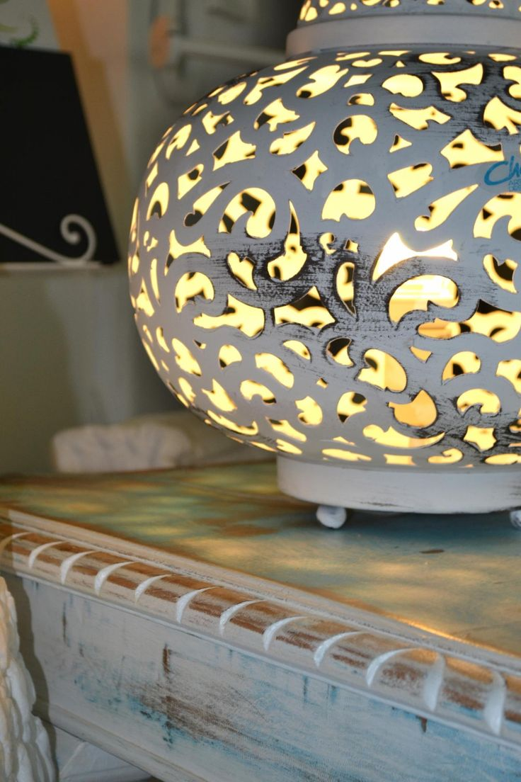white metal table lamp by CHORA Art Home Design