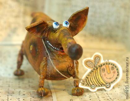 Бука - аблизюка - грунтованный текстиль,собачка,смешной подарок,смешная игрушка