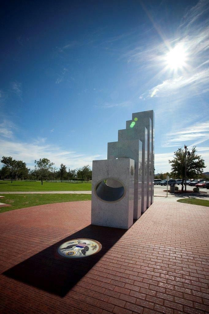 Veterans Memorial in Arizona that can only be seen on Veterans Day at 11:11 AM. Thank you to all Veterans for there Service and Sacrifice.