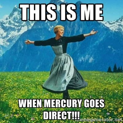 Great news! Mercury Retrograde is OVER! If you've been holding off on starting something new, wait no more - the time to act is NOW! Mercury Retrograde is a time to REflect, REthink, REvise, REconsider... Now is the time in the cycle to ACT on those ideas, thoughts and plans. The message for 2017 that came out of our New Year Drum Journey last week was: Imagination + Motion(Action) = Creation. So... let's get busy creating! What are YOU going to create? #mercurygoesdirect