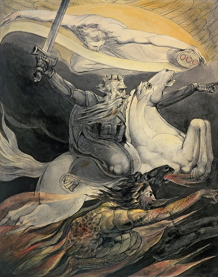 Death on a Pale Horse (1800)  William Blake