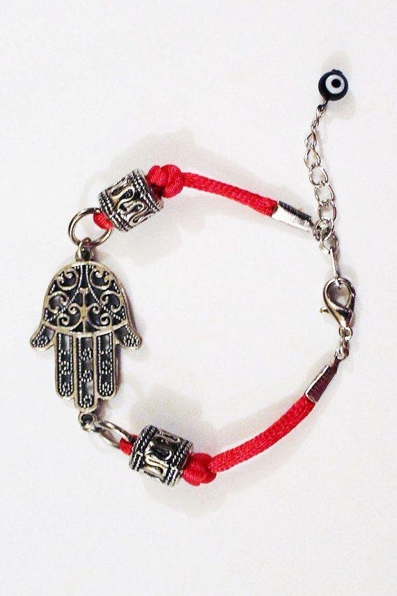 Hamsa bracelet, Kaballah bracelet, Red bracelet, evil eye bracelet