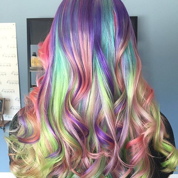 "10 ""Sand Art"" Hair Color Looks That Will Make You Join Team Unicorn: The rainbow hair trend shows no sign of slowing down anytime soon — especially not with this latest take on the look."