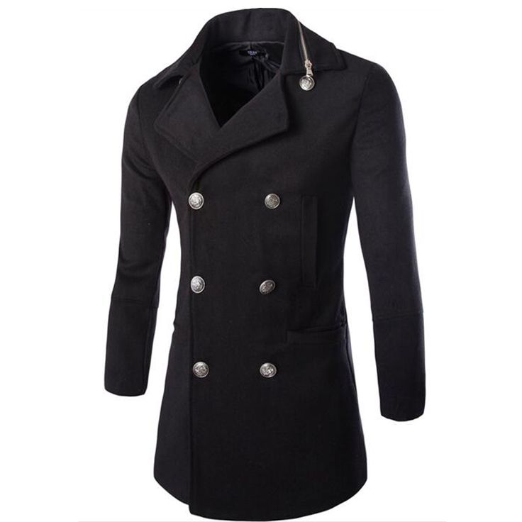 >> Click to Buy << New Sale Winter Mens Jackets And Coats Duffle Coat Stylish British Style Single Breasted Mens Pea Coat Wool Trench Coat #Affiliate