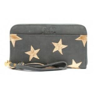 FAB Wallet - Little star purse big dark grey gold