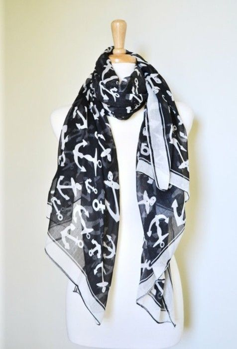 Anchors Scarf, Nautical Scarf, Step Brother, Nautical Obsession, Nautical Anchors, Girls Fashion, Part Gamma, Jewelryaccessori Shoes, Head Scarf