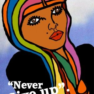 "Artwork to inspire you to - ""Never Give Up""........."