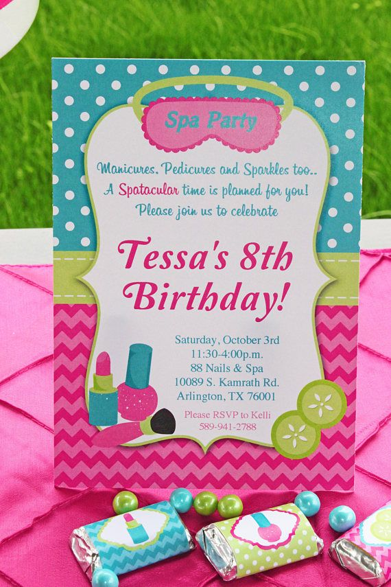 The 25+ best Spa party invitations ideas on Pinterest | Nail ...