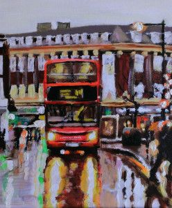 London-Bus-Rain by Paul Mitchell