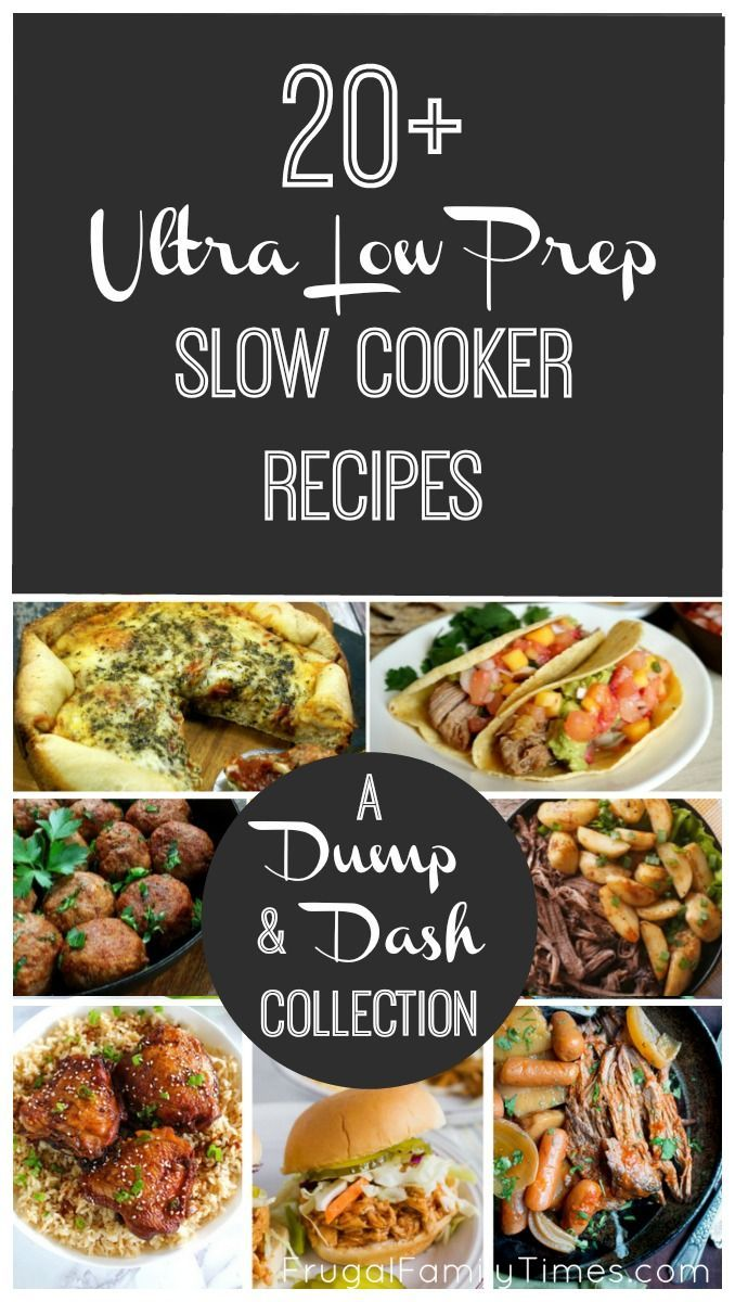 20 Low And No Preparation Slow Cooker Recipes A Dump Dash Collection Easy Slow Cooker Recipes Slow Cooker Recipes Recipes