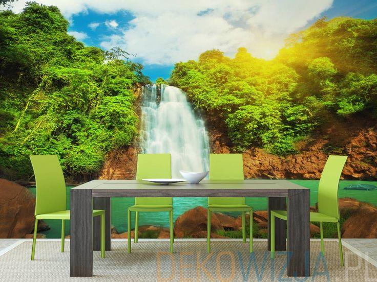 Fototapeta z Pięknym wodospadem w dżungli