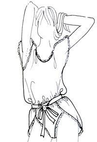 Patrón camisetas y pantalones cortos para dormir con el olor. Hacer las camisetas para el Pedido | lecciones pokroyka.ru-corte y costura