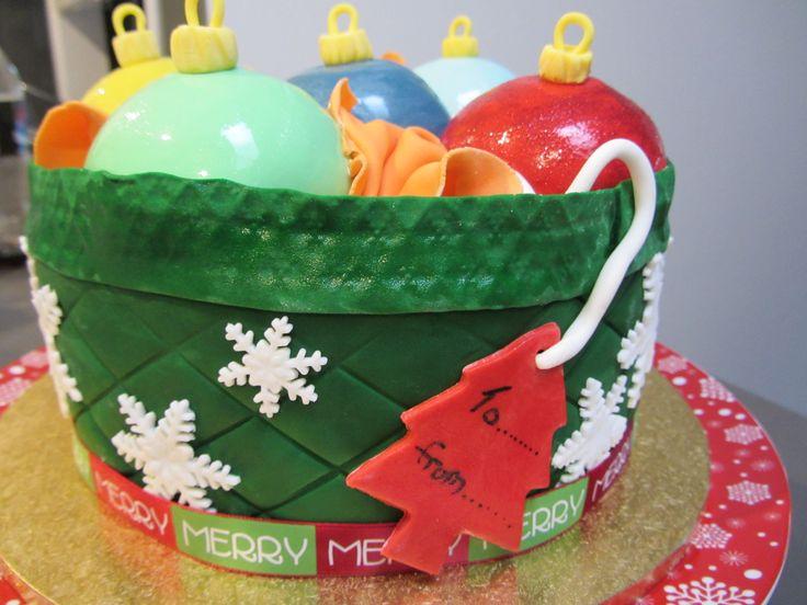 Christmas decoration cake