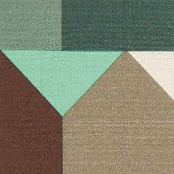 Stoff&Stil Baumwolle Mint/Braun/Petrol Haus
