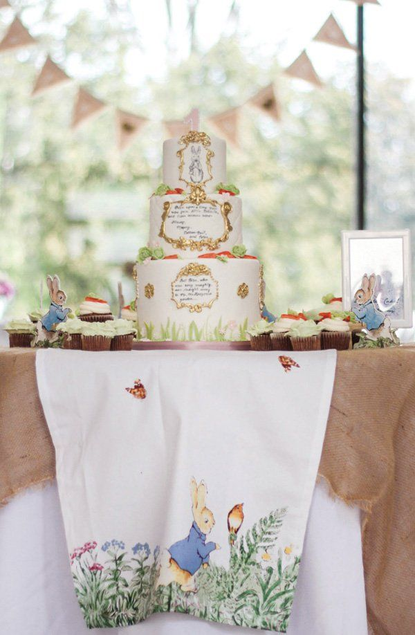 Adorable Peter Rabbit First Birthday Garden Party // Hostess with ...