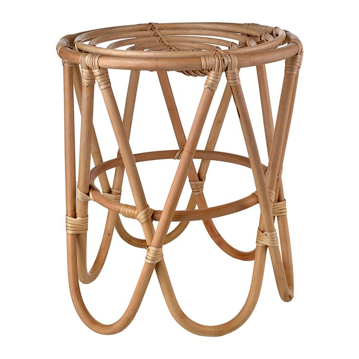 Bring practical seating to your home with this Rattan Paperclip stool from Pols Potten. Made from painted rattan, it features curved legs reminiscent of a paperclip and is suitable for indoor use only