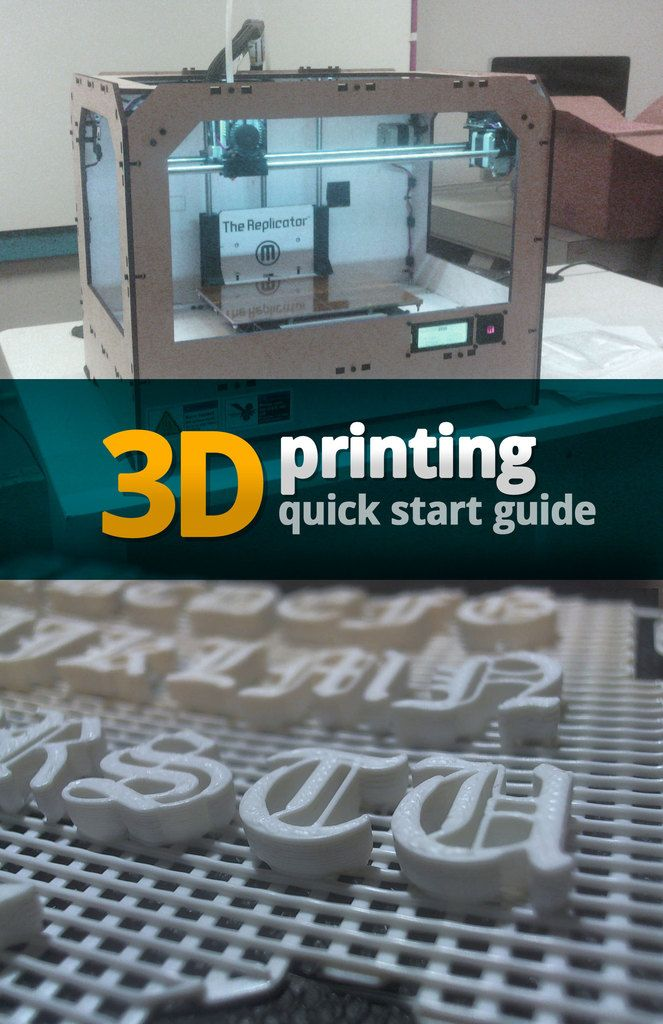 3D Printing Quick Start Guide booklet by jasonwebb.