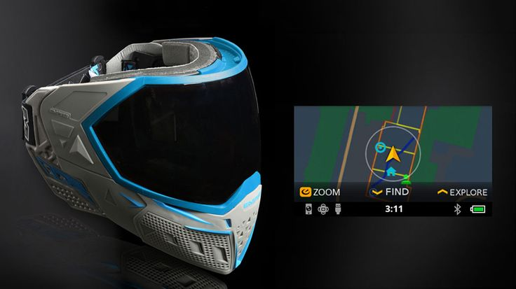 Recon Instruments Unveils World's First Smart Paintball Mask - http://DesireThis.com/3816 - Recon Instruments has partnered with Empire Paintball to introduce the Empire EVS, the world's first smart paintball mask. The Empire EVS combines a cutting-edge paintball mask design with an integrated Recon Snow2 heads-up display, enabling the delivery of critical, real-time information like ammunition counts, field maps, and teammate locations on a display positioned just below