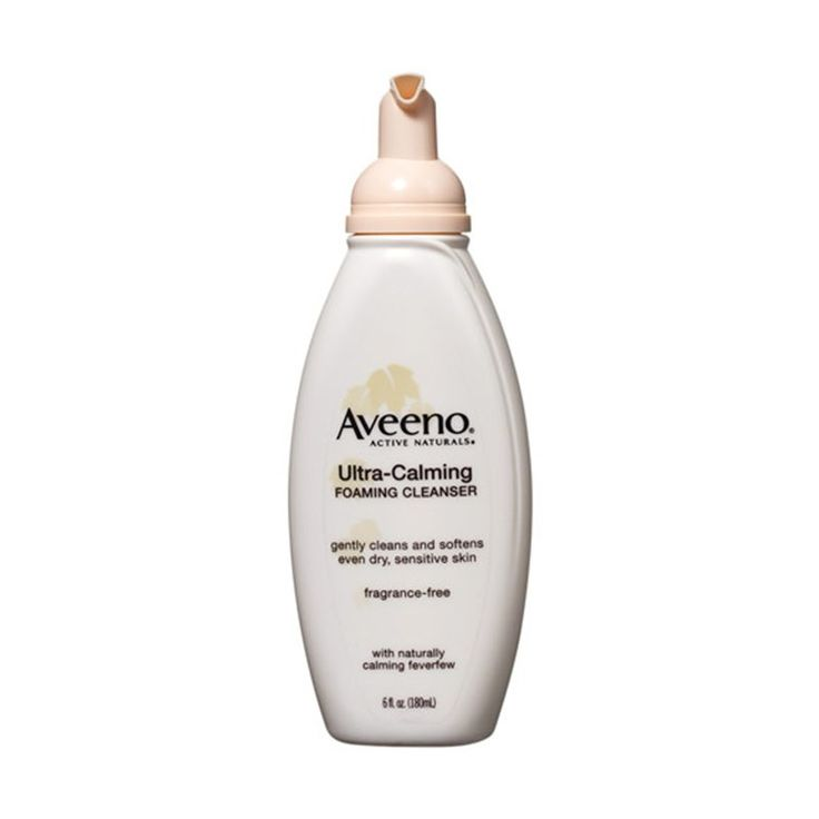 50 Beauty Products to Buy Before You Die | Allure: Aveeno Ultra-Calming Foaming Cleanser This cleanser is formulated with feverfew, an ingredient that's been proven to reduce redness and irritation. Added bonus: It washes away makeup along with dirt and oil.