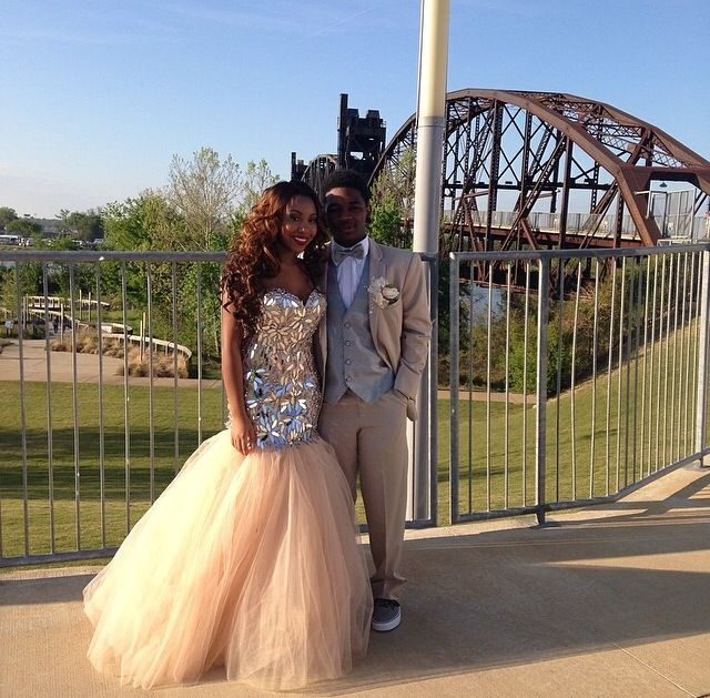 perfect prom couple with neutral and tan colors - Colors For Prom