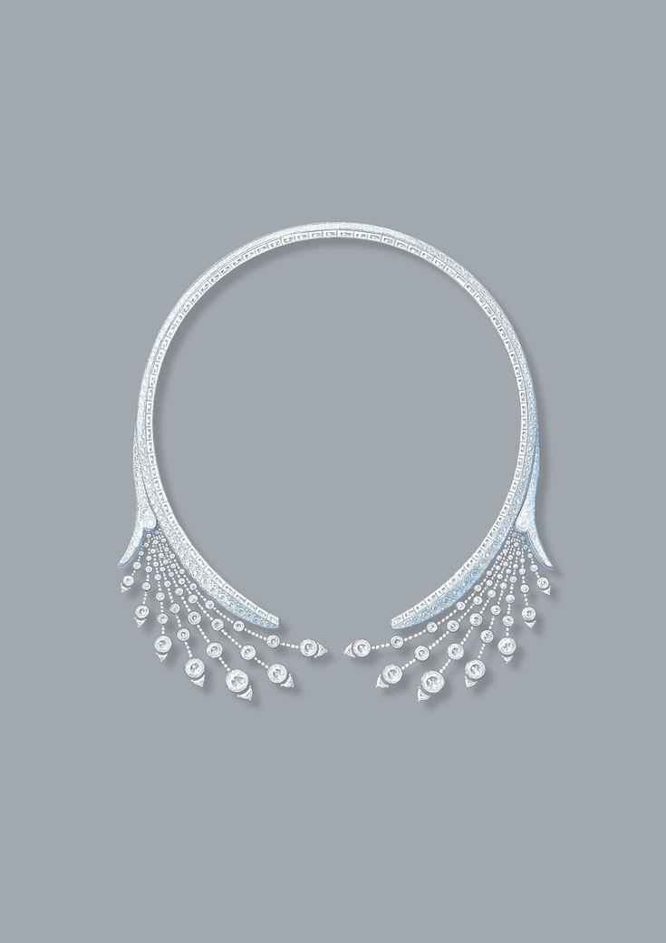 Jewelry Design Line Art : Splendeurs de russie necklace tiara drawing
