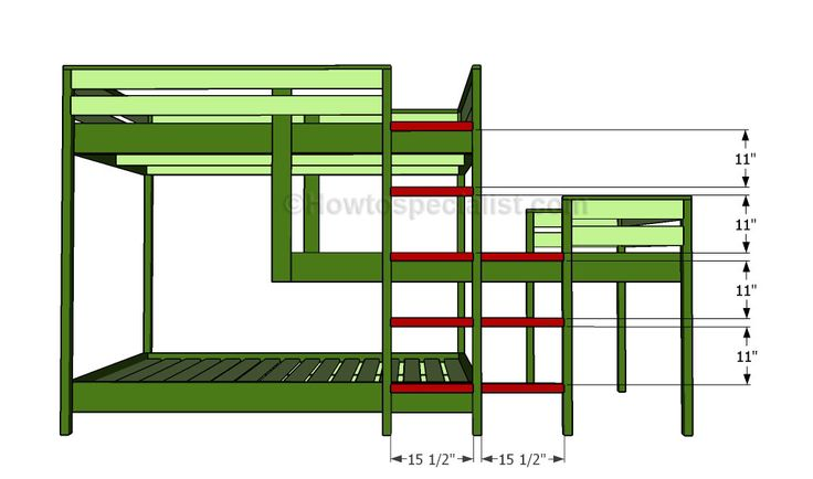 My Favorite Staggered Triple Bunk Plans Multiple Bed